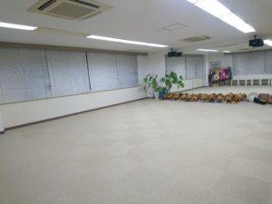 レッスン後のスタジオ