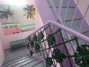 神田本校スタジオの階段